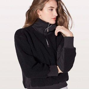 Lululemon Stand Out Sherpa Black Jacket Size 8